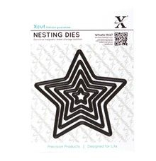 Hvězdy základní - vyřezávací kovové šablony Xcut (5ks)