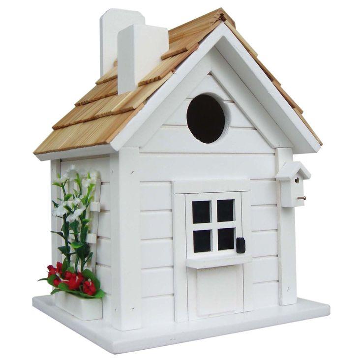 Home Bazaar Trellis Cottage Birdhouse,, Outdoor Décor