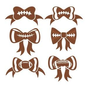 Footballs in shape of girls hair bows