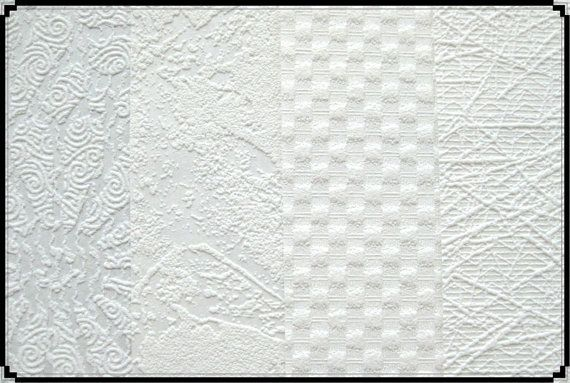 4 different paintable textured wallpaper by