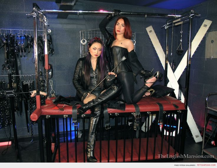 Two asian mistresses dominating a male slave