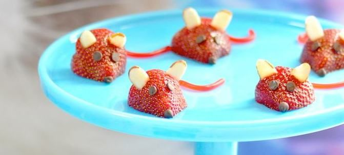 Strawberry Mice for Grumpy Cat's 2nd Birthday Party!