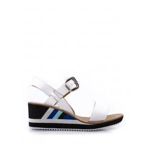 Sandale Compensée SASPORT Blanc - CHAUSSURES FEMME - FEMME