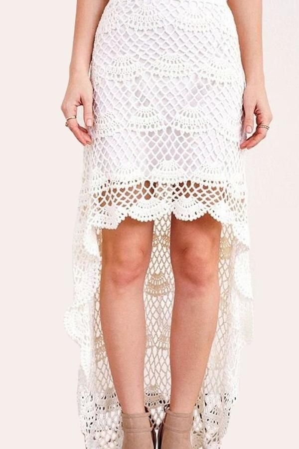 Gina Louise Crochet High-Low Skirt  Price : 118.00$
