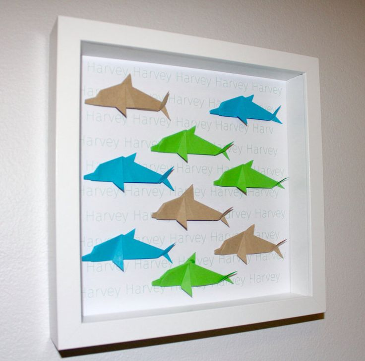 A personal favourite from my Etsy shop https://www.etsy.com/au/listing/289550263/personalised-dolphin-origami-frame