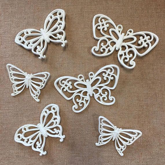 Nice And Lightweight Wall Decor From The 70s Homeco Home Interior Wall Art Is Made Of A Lightweight Durable Resin Butterfly Wall Art Wall Art Sets Handmade