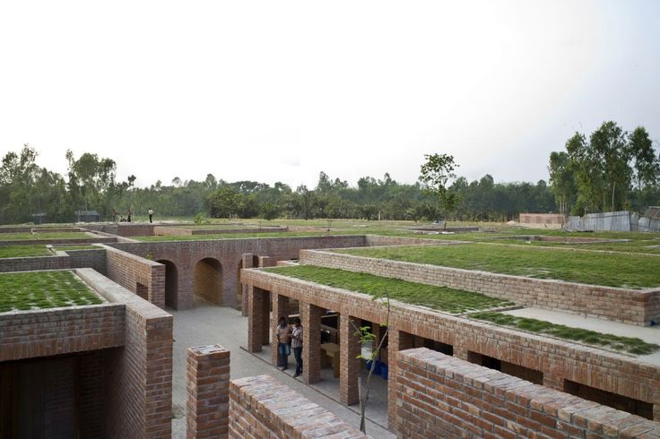 Built by Kashef Mahboob Chowdhury/URBANA in Gaibandha, Bangladesh with date 2011. Images by Anup Basak. The Friendship Center near the district town of Gaibandha, Bangladesh, is for an NGO which works with some of the poo...