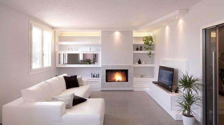 Idee pareti soggiorno in cartongesso - Soggiorno accogliente