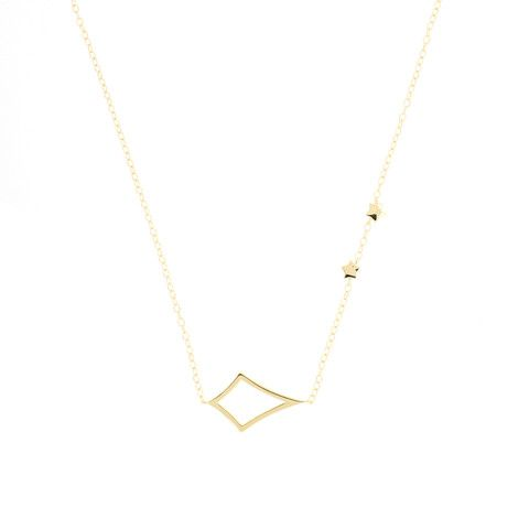 Whitney Necklace In Gold   Emily Elaine Designs Kappa Alpha Theta Sorority Jewelry