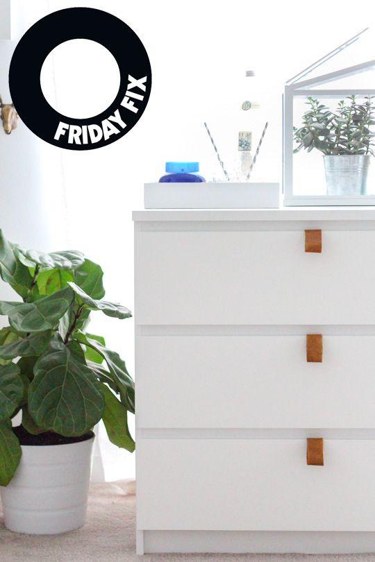 Friday fix: Leather handles IKEA hack - Husligheter – inredning och design som blogg.