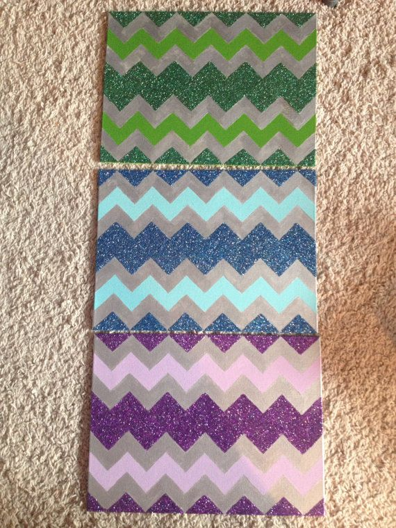 Glitter Chevron Canvas by VictoriaLynCreations on Etsy, $20.00