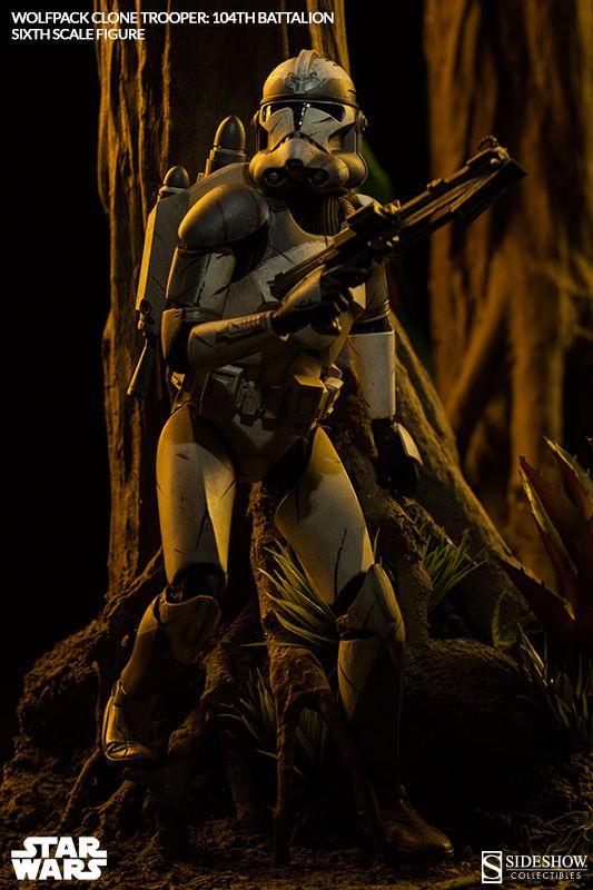 star wars wolfpack clone trooper 104th battalion sixth scale figure