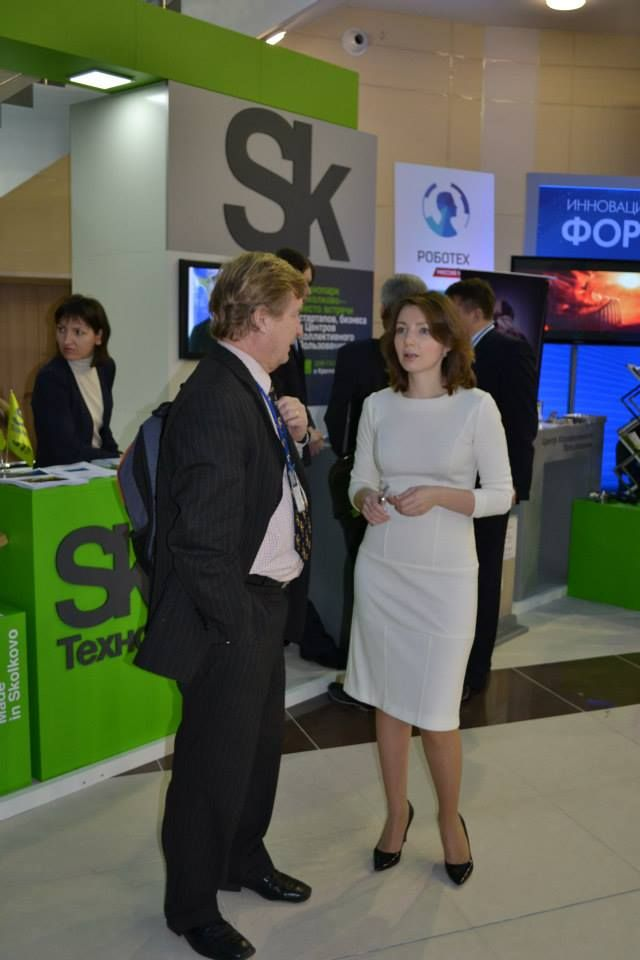 Discussion with Anna Nikina from Skolkovo during the 3rd Zheleznogorsk Innovation Forum 2013