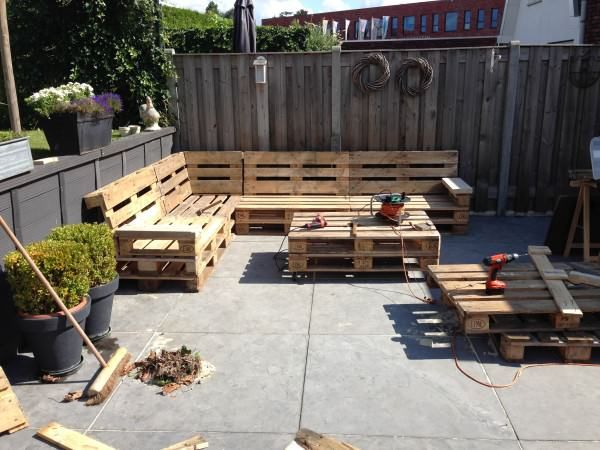 Lounge Set With Repurposed EURO Pallets Lounges & Garden Sets