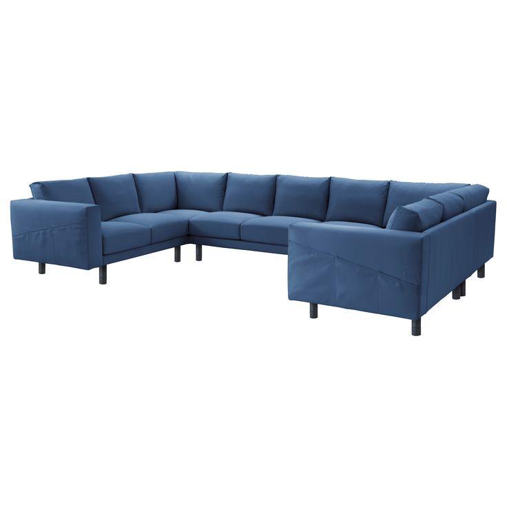 NORSBORG 9er Sofa U Form Edum Dunkelblau Jetzt Bestellen Unter Moebelladendirektde Wohnzimmer Sofas 2 Und 3 Sitzer Uid