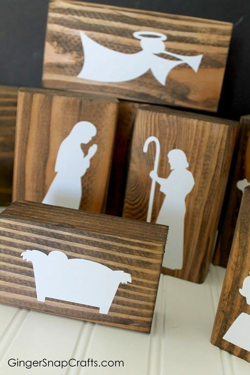 DIY handmade nativity with Silhouette