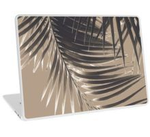 """Palm Leaves Sepia Vibes #2 #tropical #decor #art"" Laptop Skins by anitabellajantz 