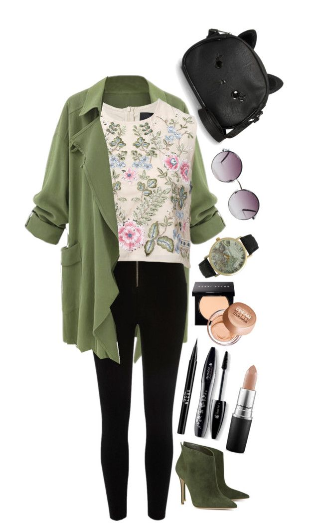 """My Style for Collage"" by luthfia-fsani on Polyvore featuring River Island, Needle & Thread, Gianvito Rossi, Monki, Olivia Pratt, Bobbi Brown Cosmetics, Stila, Maybelline, Lancôme and MAC Cosmetics"