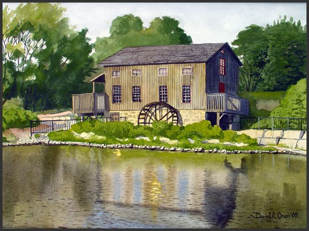 Art by David A. Oram - Abraham Erb's Gristmill
