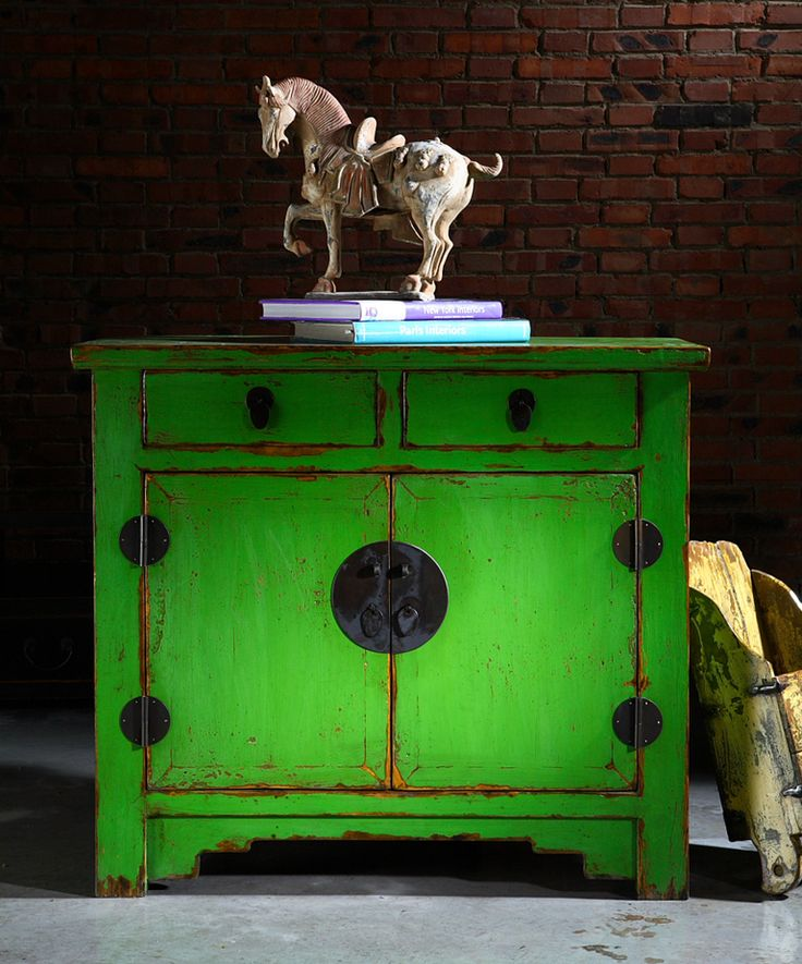 Beijing Cupboard Green - Chinese Furniture