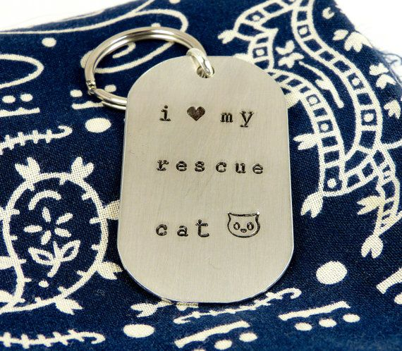 I Love My Rescue Cat  Animal Rescue  Pets  by fromtheinternet, $12.00