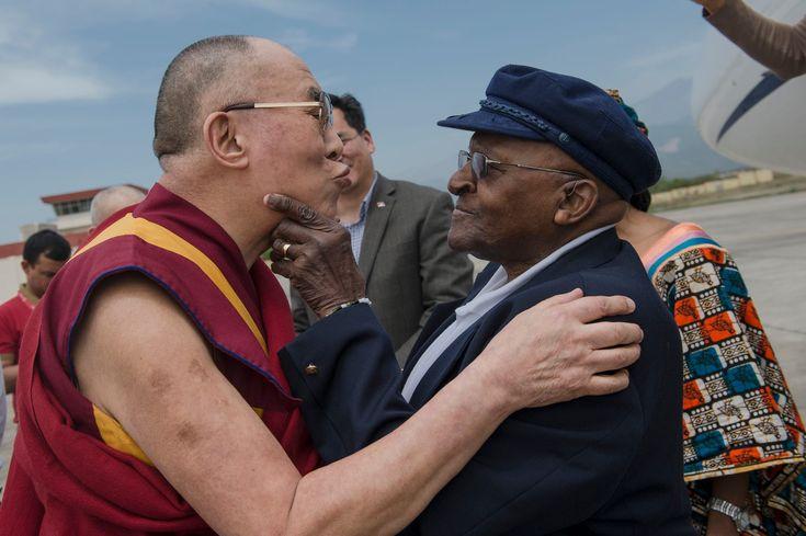 The Look of Joy...Tutu Joins Dalai Lama to Collaborate on Book