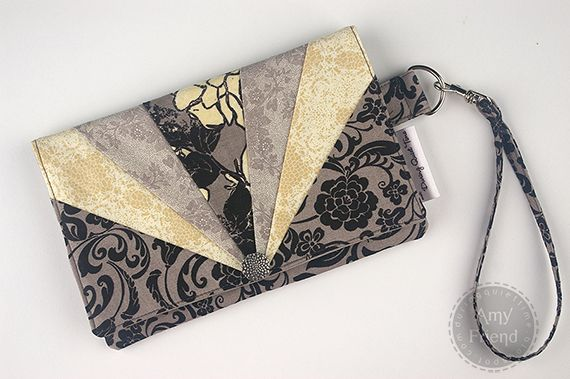 Little Black Dress Envelope Wristlet - Free Sewing Tutorial by Amy Friend