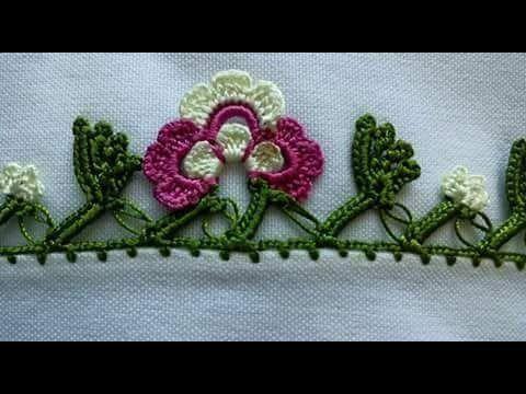 How to make a 'tığ oyası' (Turkish crochet lace) - YouTube