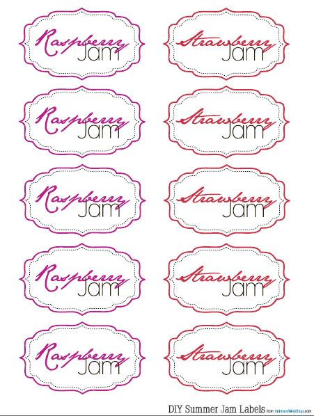 Free Homemade Jam Labels | Intimate Weddings - Small Wedding Blog - DIY Wedding Ideas for Small and Intimate Weddings - Real Small Weddings