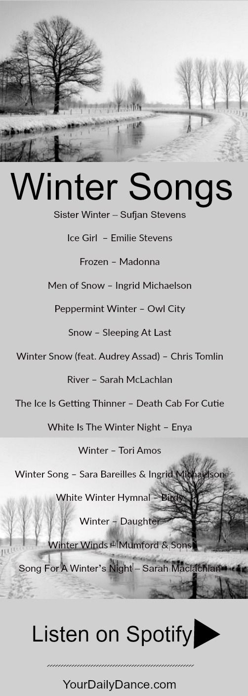 Winter Songs Playlist for those winter vibes.  #music #playlist #winter