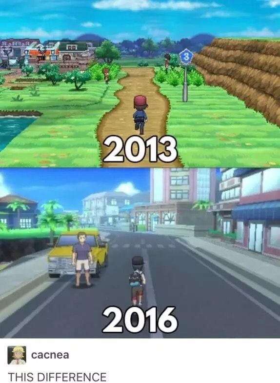 Pokémon X and Y compared to Pokémon Sun and Moon. Oh. My. GOD!!!