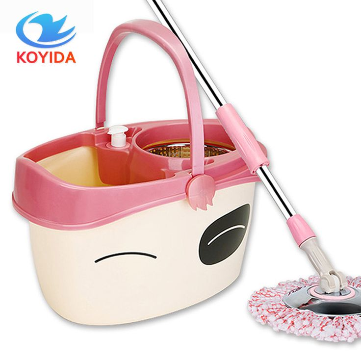 KOYIDA Dual-drive 360 rotating spin Mop bucket hand pressure drying Easy Magic Floor car cleaning mop with one mop head #Affiliate