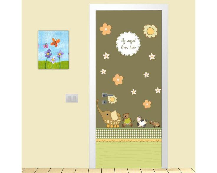 Χαριτωμένη παρέα,αυτοκόλλητο πόρτας παιδικό
