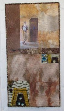 """""""Opening Doors""""  A Quilt by Barbara Kavermann, inspired by a photograph taken by my uncle at a new hospital in Mikumi in Africa"""