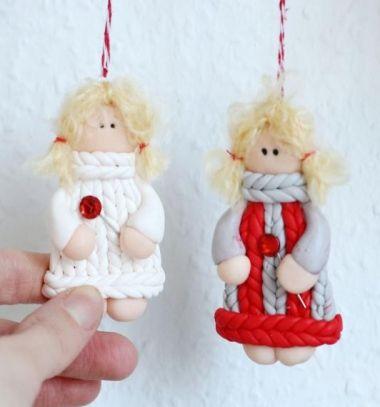 DIY Polimer clay girl keychain in knitted sweater // Kötött pulcsis kislány kulcstartó Fimo gyurmából // Mindy - craft tutorial collection // #crafts #DIY #craftTutorial #tutorial