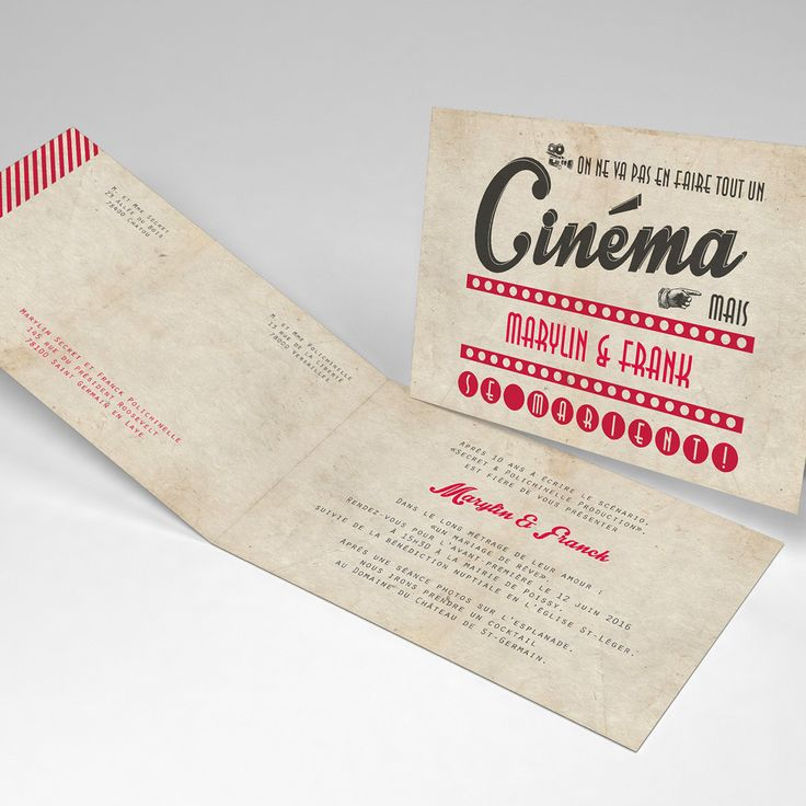 movie ticket stub wedding invitation%0A Fairepart mariage original et humour cin  ma vintage ticket am  ricain