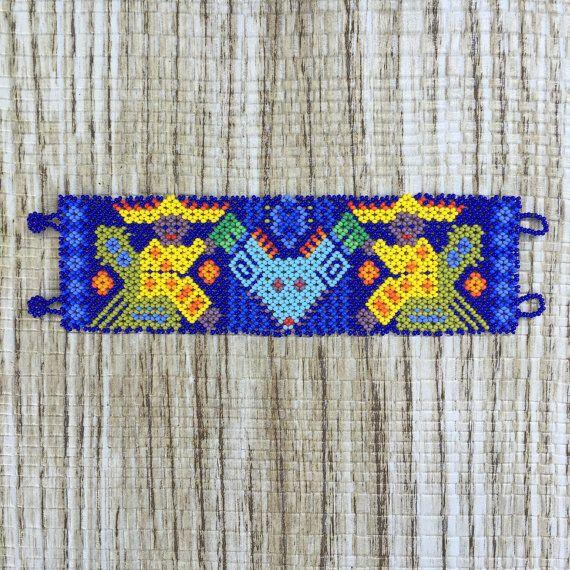 Pulsera de cuentas Huichol mexicana hermosa
