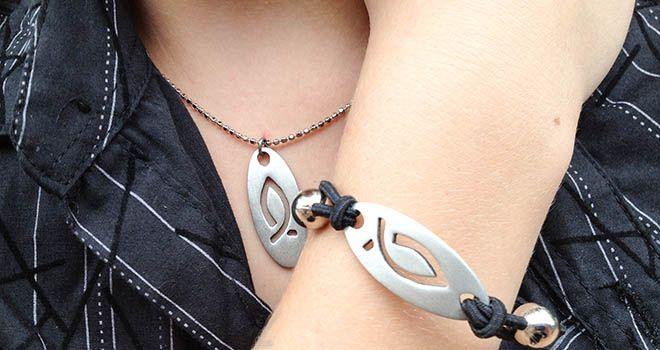 Icthys Pendant and Stretch Bracelet. Find it at www.giftedmemoriesjewellery.com.au