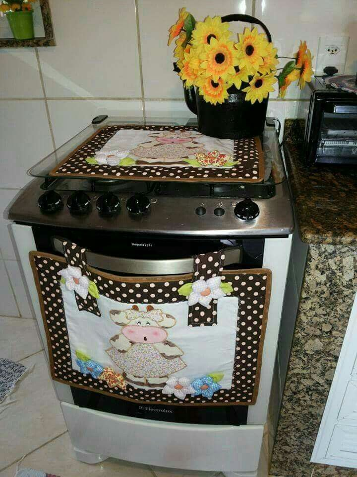 Panos de fog o moldes em pat aplique pinterest - Patchwork para cocina ...