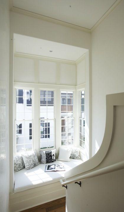 stairway landing window seat