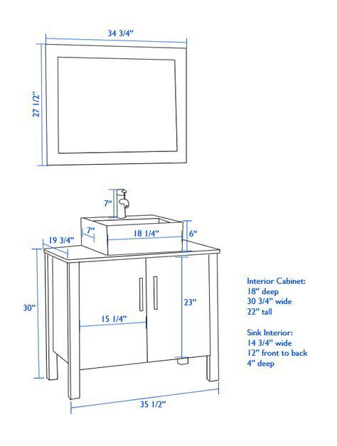 image result for standard height for vanity with vessel sink rh pinterest com
