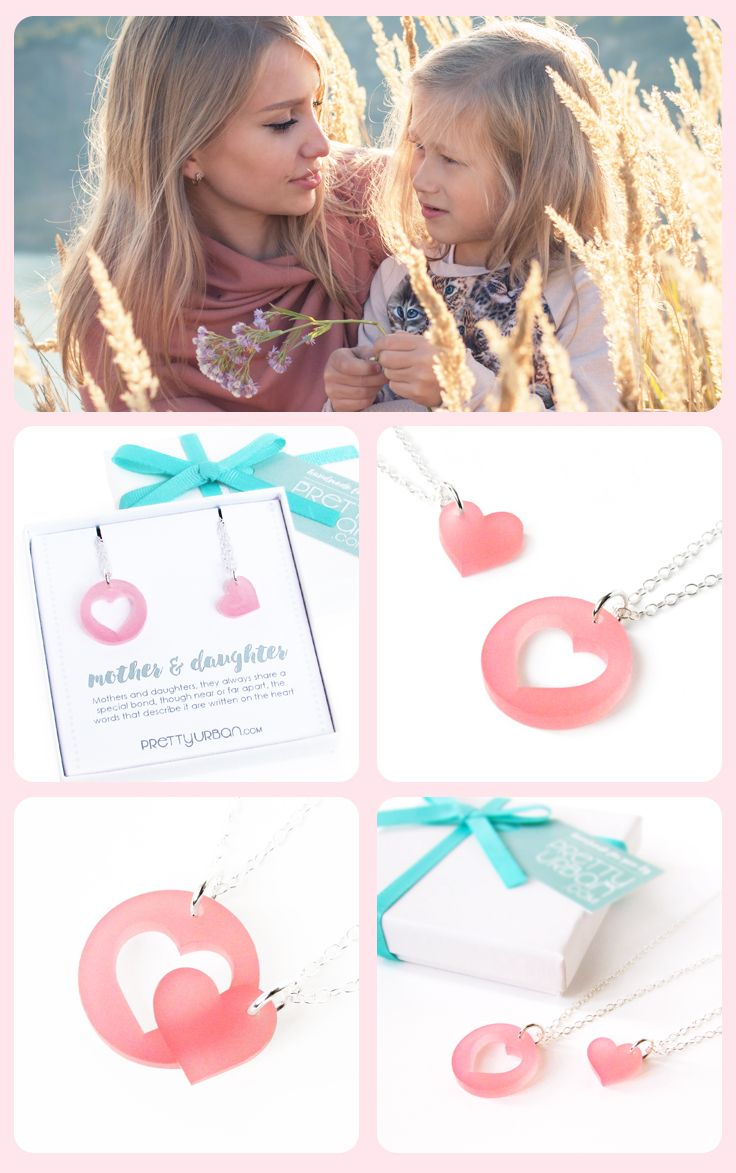 Mother Daughter Necklace Set - so cute!