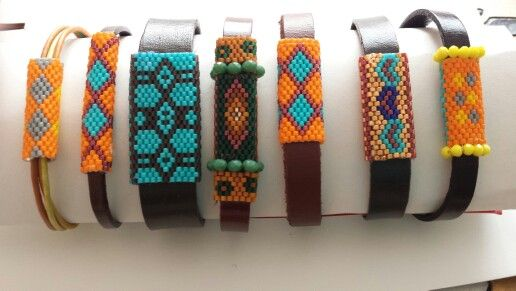 My work. Miyuki beads&leather