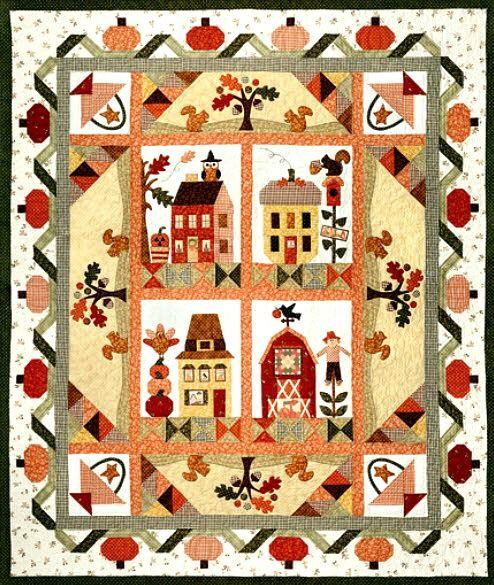 129 besten Quilts: Houses Bilder auf Pinterest | Haus quilts ...