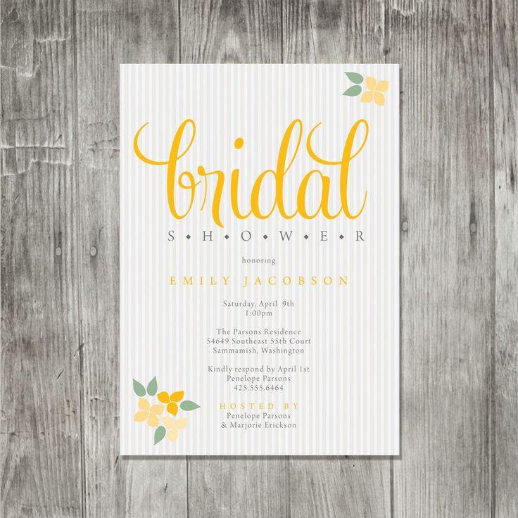 The 149 best bridal shower invitations images on Pinterest