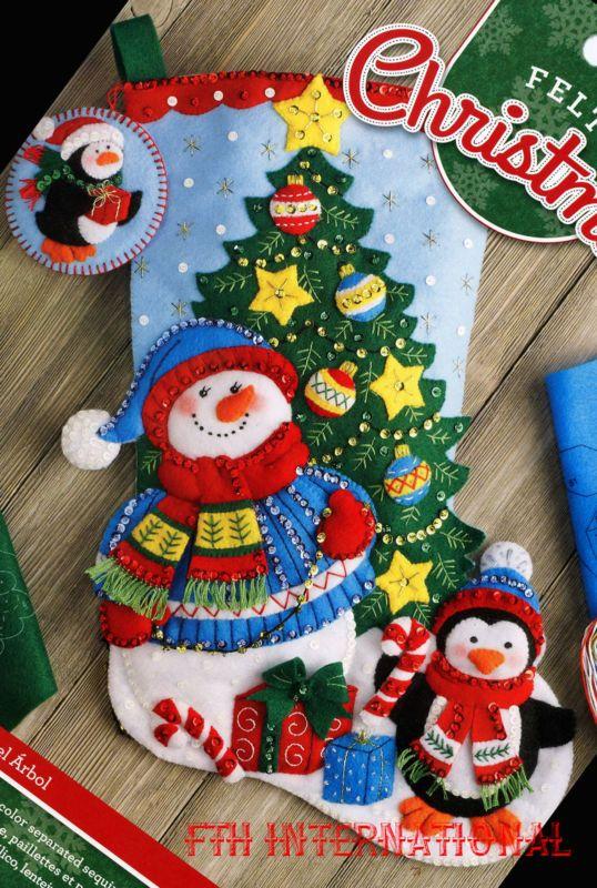 """Bucilla aparar a árvore ~ 18 """"Feltro Kit De Meia De Natal # 86659 Frosty pengun"""