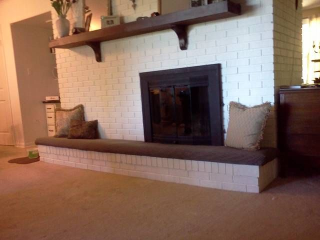 fireplace hearth cushion second side home daycare