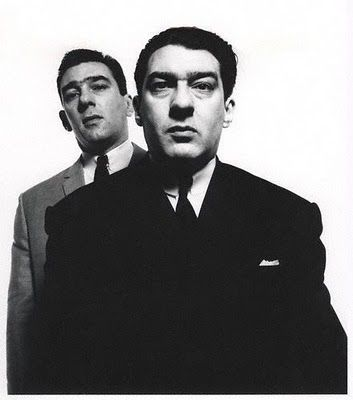 The Kray Twins photographed by David Bailey-Were celebrities in those years.