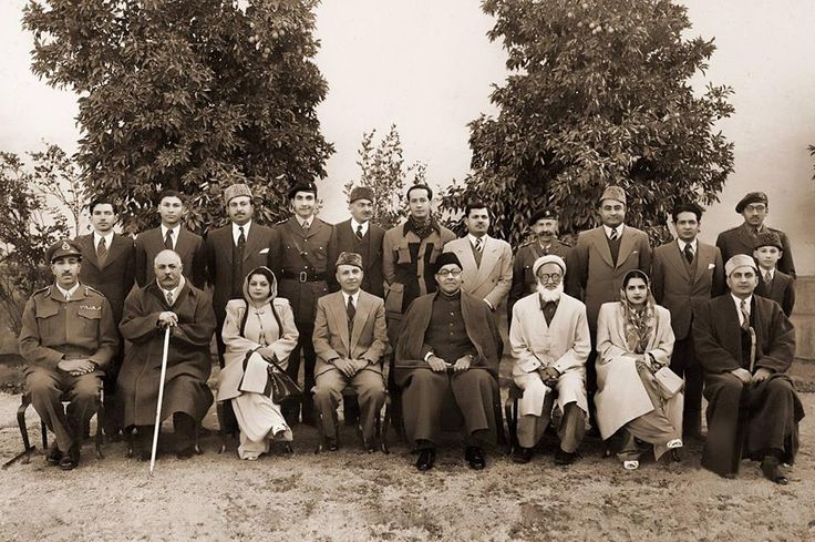 PM of Pakistan Nawabzada Liaquat Ali Khan on his visit to Swat with Miangul Abdul Wadud Ruler of Swat, The Wali of Swat Miangul Jahanzeb, Dec. 12, 1949.