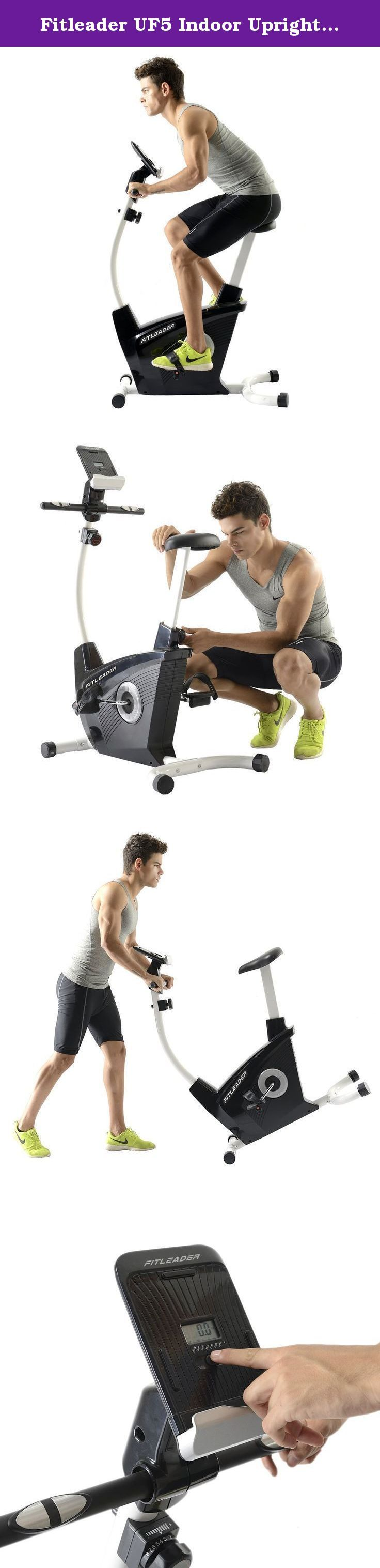 Fitleader UF5 Indoor Upright Bike Exercise Magnetic Resistance Stationary Cardio Cycle. Why Choose a Fitleader Upright Bike? Are you still trying to find the economy stationary bike for your home gym? If so, the Fitleader UF5 upright bike is the high quality, competitively priced exercise bike you've been looking for! With its eight resistance levels and progress readouts for speed, RPM, time, distance, watts, calories and pulse, the UF5 is exactly what you need to achieve your fitness...